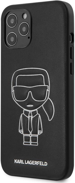 Karl Lagerfeld ochranný kryt Embossed pro iPhone 12 Pro Max, černá