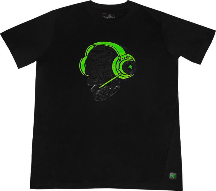 Tričko Razer Elite Skull Kraken, zelené (XL)