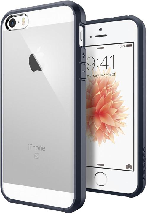 Spigen Ultra Hybrid kryt pro iPhone SE/5s/5, slate