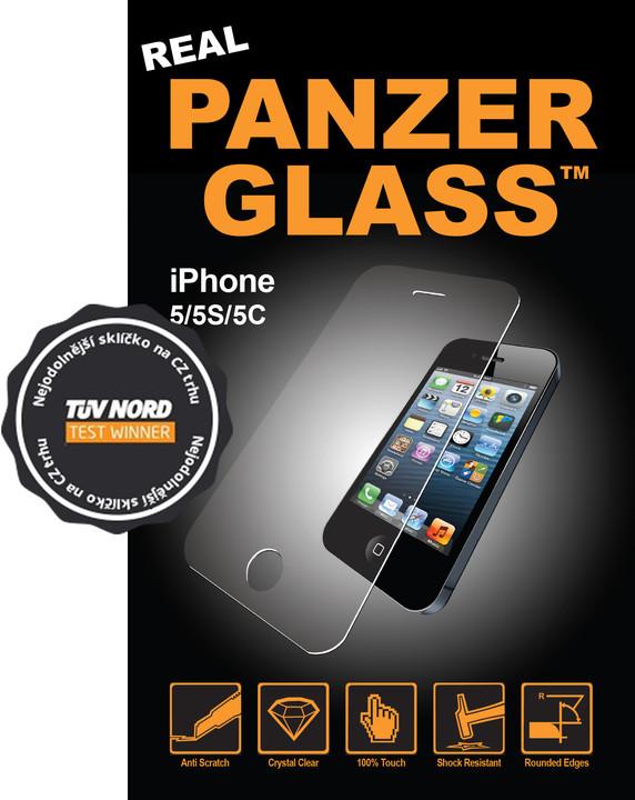 PanzerGlass Edge-to-Edge pro Apple iPhone 5/5S/5C/SE, čiré