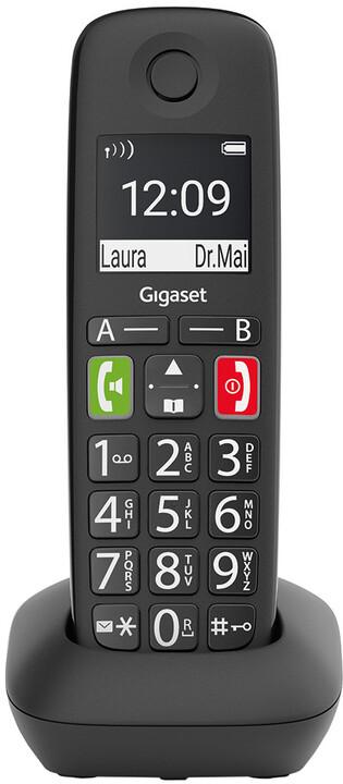 Gigaset E290HX, bezdrátový, DECT sluchátko, černá