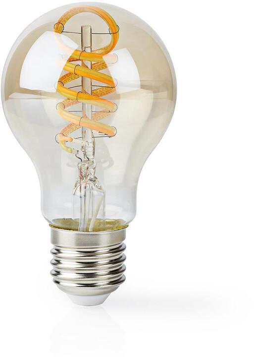 Nedis Wi-Fi chytrá LED žárovka, kroucená, E27, A60, 5,5 W, 350 lm