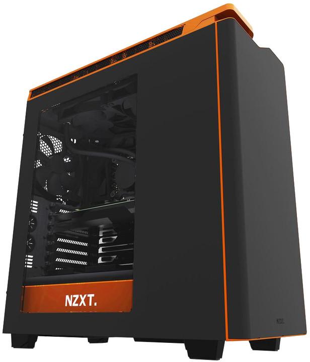 NZXT H440, okno, černo-oranžová