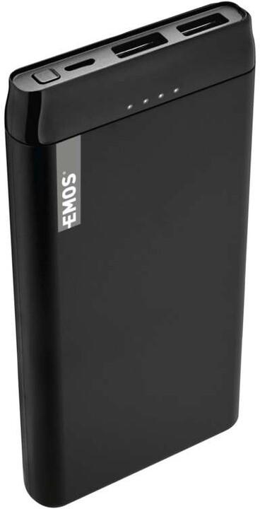 Emos Alpha 10S powerbanka, 10000 mAh, černá