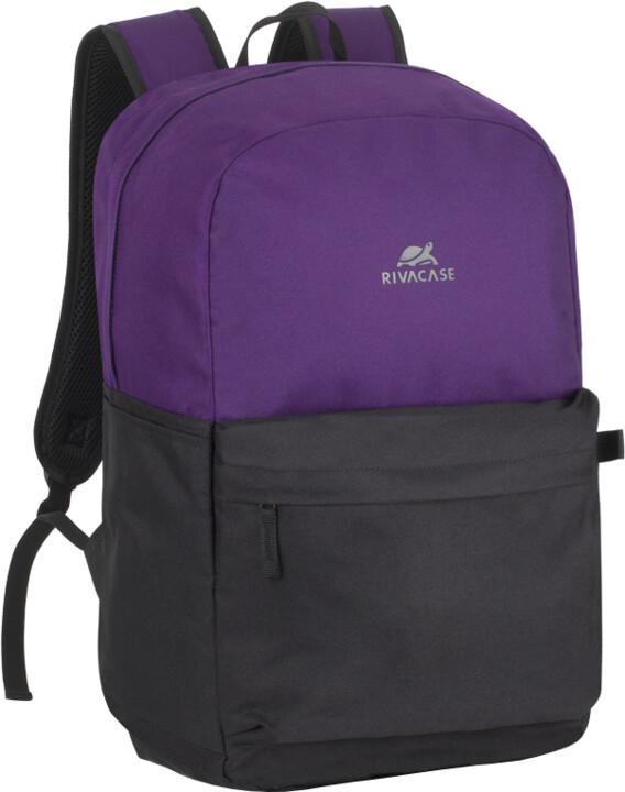 """RivaCase Mestalla 5560 batoh 20L na notebook 15.6"""", fialová/černá"""