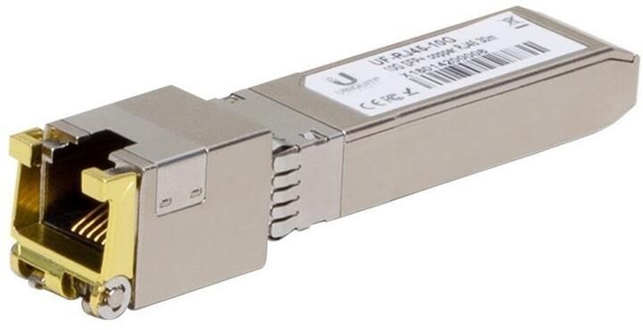 Ubiquti SFP modul Metalický modul SFP+, SFP+ na RJ45, 10Gbps, 30m, 1ks
