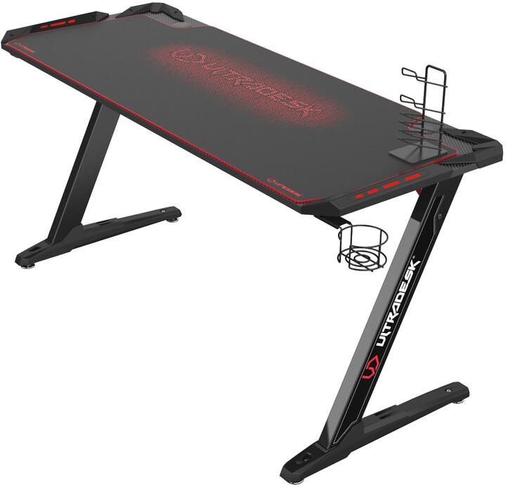 Ultradesk Space XXL, černý/červený
