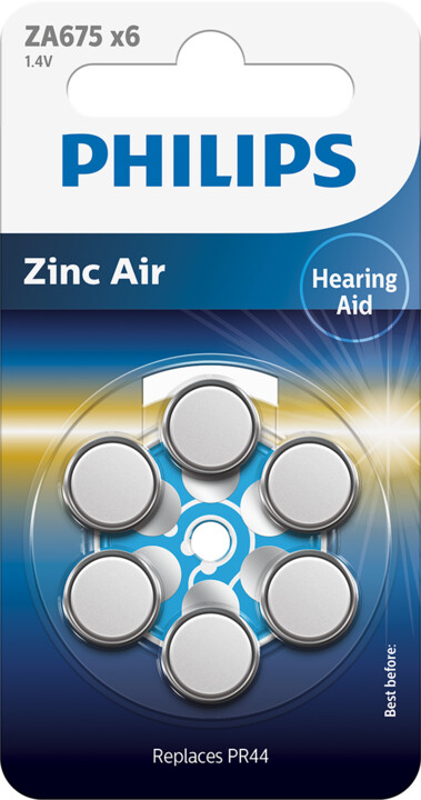 Philips Zinc Air ZA675B6A - 6ks