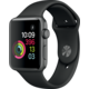 Apple Watch 2 42mm Space Grey Aluminium Case with Black Sport Band