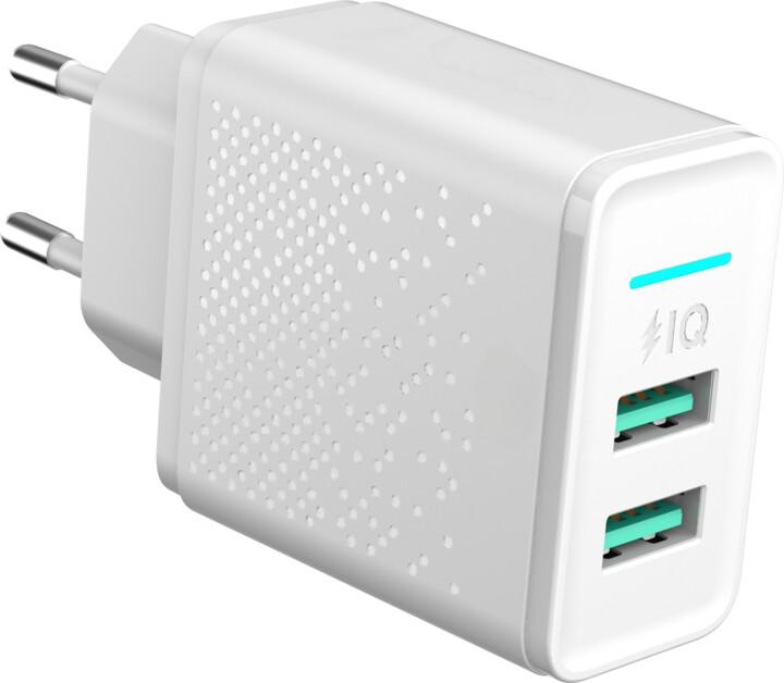 MAX síťová nabíječka s2x USB, bílá