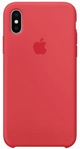 Apple silikonový kryt na iPhone X, malinově červená