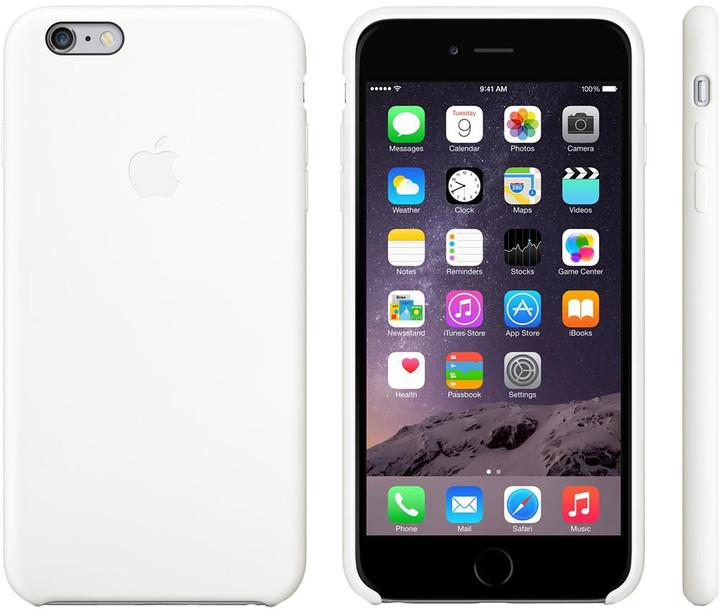 Apple Silicone Case pro iPhone 6 Plus, bílá