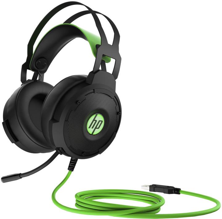 HP Pavilion Gaming 600, černá/zelená