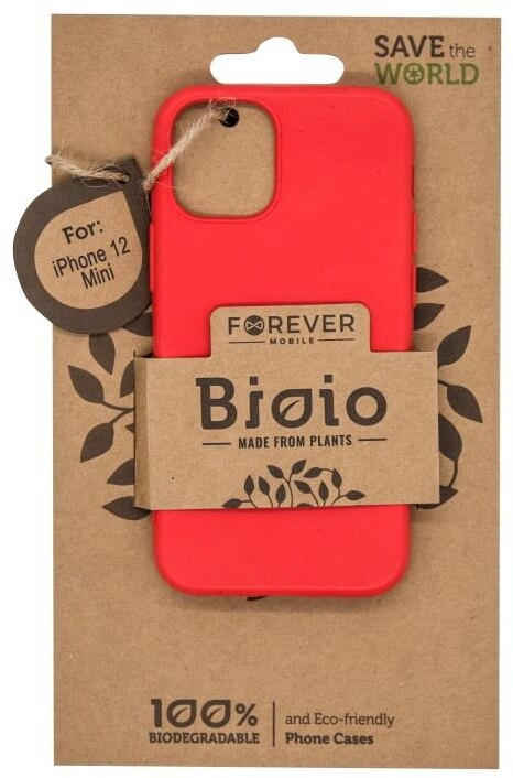 """FOREVER zadní kryt Bioio pro iPhone 12 mini (5.4""""), červená"""
