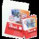 Peach laminovací fólie 54x86 (creditcard), 125mic, 100ks