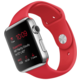 Apple Watch 42mm stříbrné kovové pouzdro se sportovním červeným řemínkem