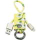 MIZOO USB/ lightning klíčenka K2-03i, žlutě květovaná