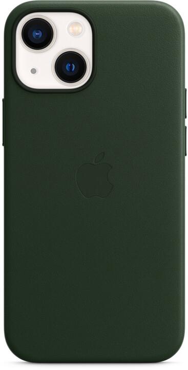 Apple kožený kryt s MagSafe pro iPhone 13 mini, sekvojově zelená