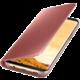 Samsung S8+, Flipové pouzdro Clear View se stojánkem, růžová