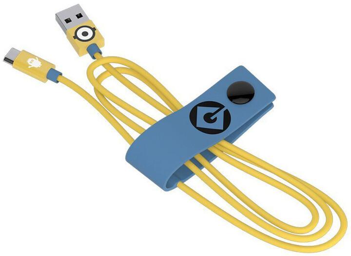 Tribe Minions Carl Micro USB kabel (120cm) - Žlutý
