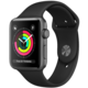 Apple Watch series 3 42mm pouzdro vesmírně šedá/černý řemínek  + Voucher až na 3 měsíce HBO GO jako dárek (max 1 ks na objednávku)