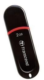 Transcend JetFlash 300 2GB, černo/červený