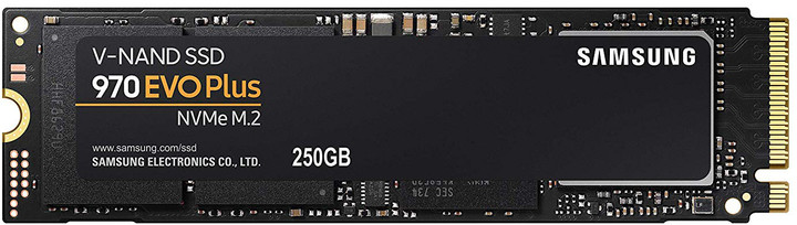 Samsung SSD 970 EVO PLUS, M.2 - 250GB