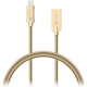 CONNECT IT Wirez Steel Knight Lightning - USB, metallic gold, 2,1A, 1 m