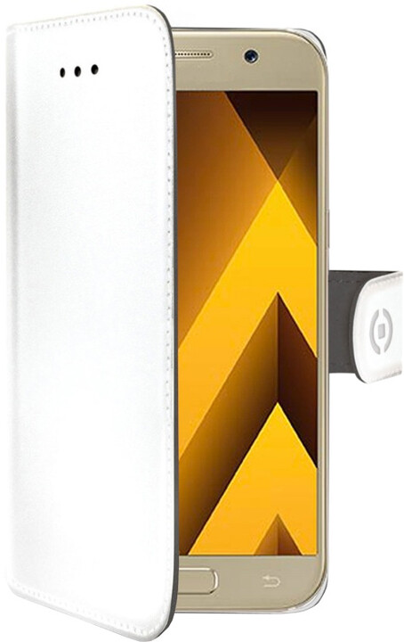 CELLY Wally Pouzdro typu kniha pro Samsung Galaxy A5 (2017), PU kůže, bílé