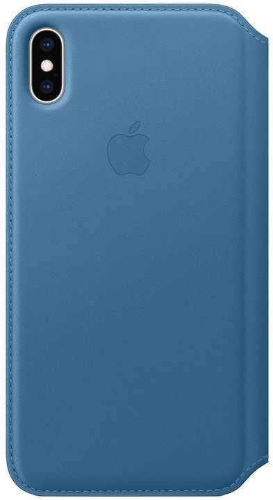 Apple kožené pouzdro Folio na iPhone XS Max, modrošedá