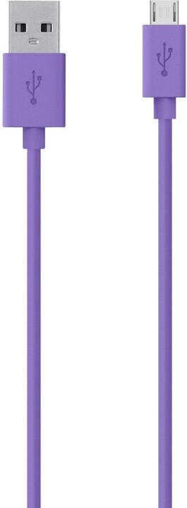 Belkin Mixit USB/microB, 2m, fialová