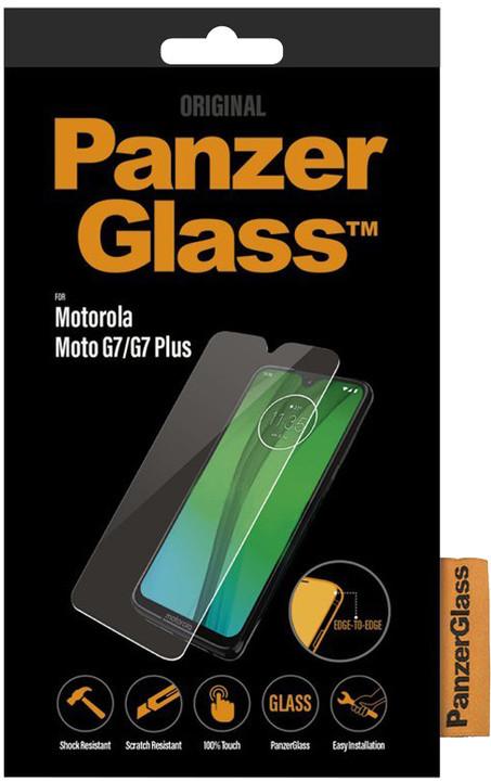 PanzerGlass Edge-to-Edge pro Motorola Moto G7/G7 Plus, čirá