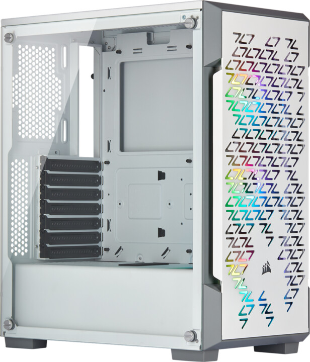 Corsair iCUE 220T RGB, TG, bílá