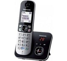 Panasonic DECT KX-TG6821FXB, černo-stříbrná Elektronické předplatné časopisu Reflex a novin E15 na půl roku v hodnotě 1518 Kč + O2 TV Sport Pack na 3 měsíce (max. 1x na objednávku)