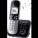 Panasonic DECT KX-TG6821FXB, černo-stříbrná