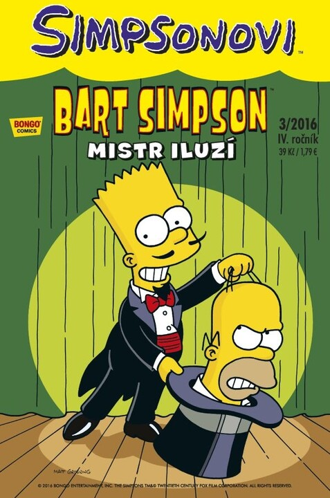 Komiks Bart Simpson: Mistr iluzí, 3/2016