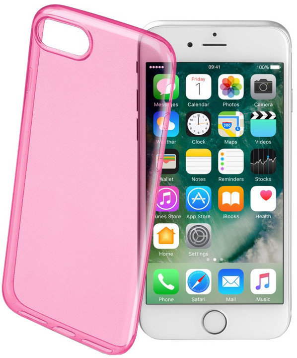 CellularLine COLOR barevné gelové pouzdro pro Apple iPhone 7, růžové