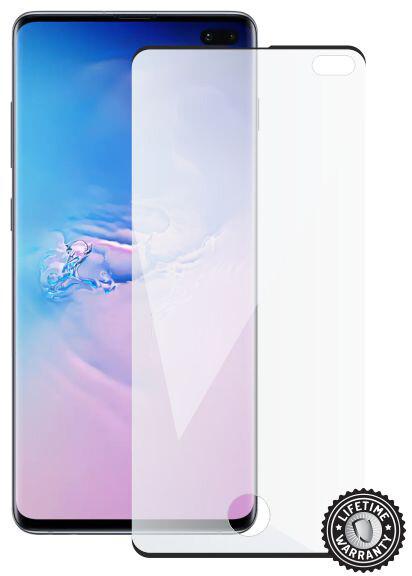 ScreenShield ochrana displeje Tempered Glass pro Samsung Galaxy S10+ (G975), case friendly, černá