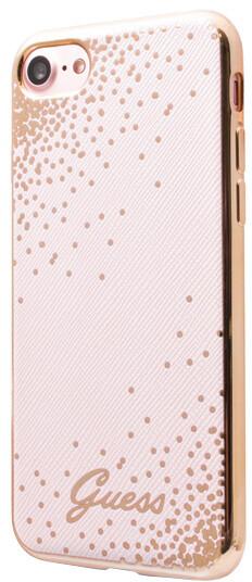 Guess Dots Soft PU Pouzdro Pink pro iPhone 7