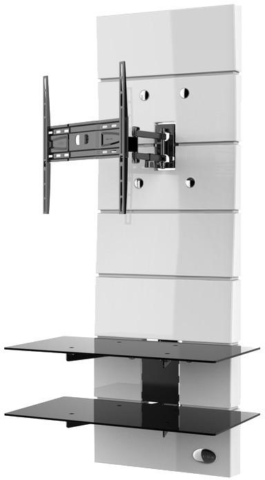 Meliconi 488311 GHOST DESIGN ROTATION Sestava pro TV a komponenty k instalaci na zeď, bílá