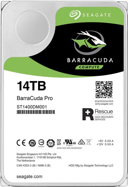 "Seagate BarraCuda Pro, 3,5"" - 14TB"