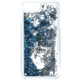 Guess Liquid Glitter Hard Shine Blue pouzdro pro iPhone 7 Plus