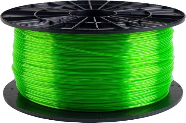Plasty Mladeč tisková struna (filament), PETG, 1,75mm, 1kg, transparentní zelená