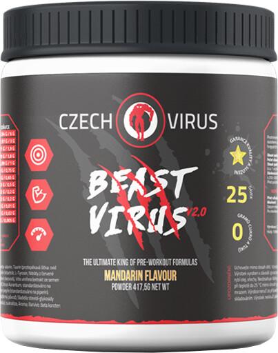 Doplněk stravy Beast Virus V2 - Mandarinka, 395g