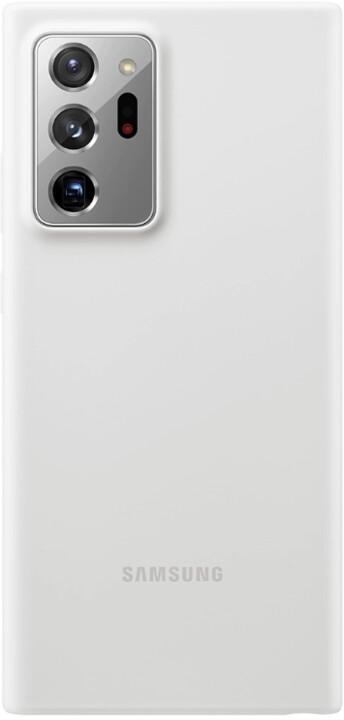 Samsung silikonový kryt Samsung Galaxy Note20 Ultra, stříbrná
