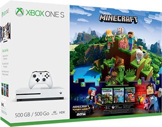 XBOX ONE S, 500GB, bílá + Minecraft + Minecraft: Story Mode