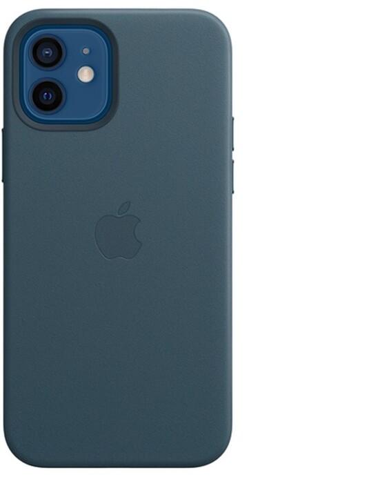 Apple kožený kryt s MagSafe pro iPhone 12/12 Pro, modrá