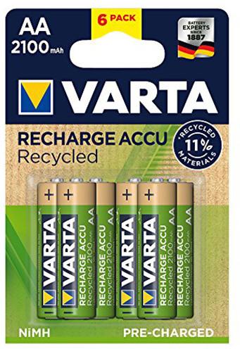 VARTA nabíjecí baterie Recycled AA 2100 mAh, 6ks