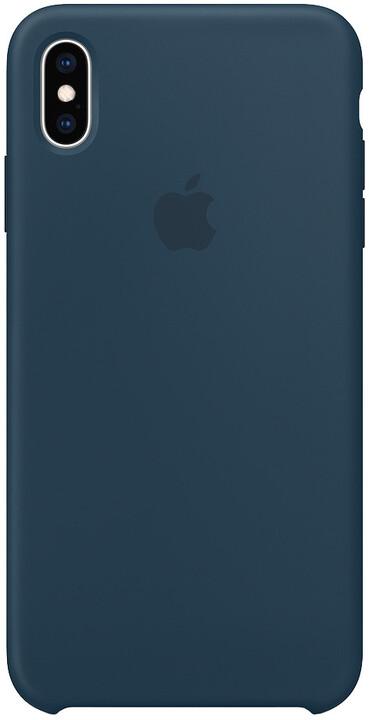Apple silikonový kryt na iPhone XS Max, podmořsky zelená