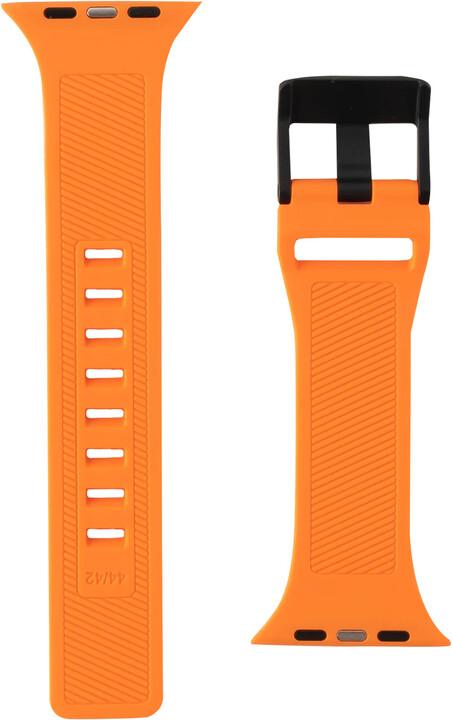 UAG silikonový řemínek Scout Strap pro Apple Watch, 42/44mm, oranžová